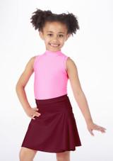 Alegra Shiny Mid Circle Skirt Red #2.