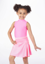 Alegra Shiny Mid Circle Skirt Pink #4.