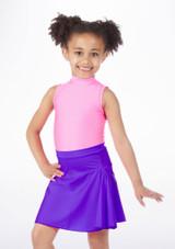 Alegra Shiny Mid Circle Skirt Purple #2. [Purple]