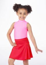 Alegra Shiny Mid Circle Skirt Red. [Red]