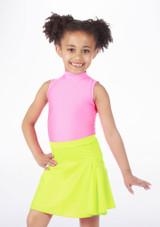 Alegra Shiny Mid Circle Skirt Yellow #2.