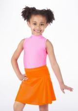 Alegra Shiny Mid Circle Skirt Orange.