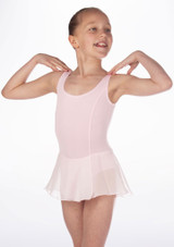 Repetto Confirmes Girls Skirted Tunic Leotard Pink front. [Pink]