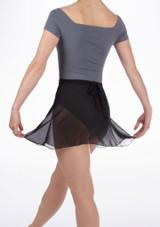 Repetto Short Chiffon Skirt Black #3. [Black]