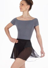 Repetto Short Chiffon Skirt Black. [Black]