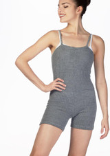 Intermezzo Skinlegshort Warm Up Suit Red front. [Red]