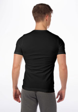 Move Mens Seamless Filipo T-Shirt Black. [Black]