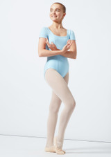 Move Hadey Square Neck Leotard Blue front. [Blue]