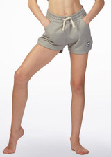 Dare2b Girls Dance Shorts Grey front. [Grey]
