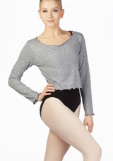 Intermezzo Supersoft Ballet Sweater Grey front. [Grey]