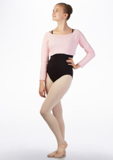 Intermezzo Teen Cropped Sweater Pink front. [Pink]