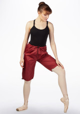 Grishko Sweat Warm Up Shorts Red back. [Red]