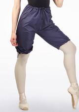 Grishko Sweat Warm Up Shorts Blue front. [Blue]