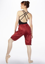 Grishko Sweat Warm Up Shorts Red front. [Red]