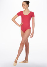 Move Dance Faye Leotard Pink front. [Pink]