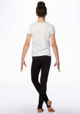 Elite Gym Life Gymnastics T-Shirt White back. [White]