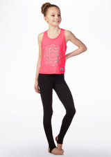 Dare2b Girls Fitness Top Pink front. [Pink]