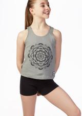 Dare2b Girls Fitness Top Grey front. [Grey]