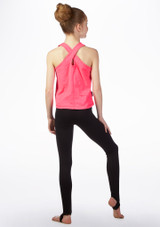 Dare2b Girls Fitness Top Pink back. [Pink]