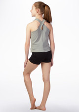 Dare2b Girls Fitness Top Grey back. [Grey]