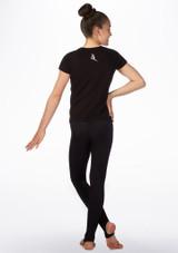 Elite Keep Calm Gymnastics T-Shirt Black back. [Black]