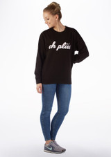 Kelham Plie Dance Sweater Black front. [Black]