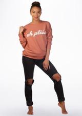 Kelham Plie Dance Sweater Pink front. [Pink]