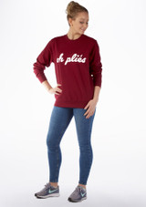Kelham Plie Dance Sweater Red front. [Red]