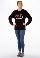 Kelham Prima Dance Sweater Black front. [Black]