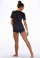Kelham Plie Dance T-Shirt Black back. [Black]