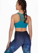 Dare2b Commence Bra Top Blue front. [Blue]