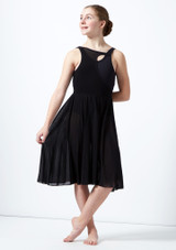 Move Dance Teen Titania Cut Out Lyrical Dress Black front. [Black]