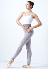 Intermezzo Knitted Warm Up Pants Grey front. [Grey]