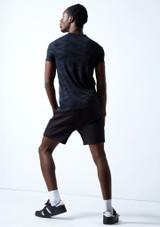 Move Dance Men's Rhythm Dance T Shirt Navy Blue Close up front-1 [Navy Blue]