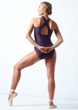 Move Dance Penelope Zip Up Leotard Grape Back-1 [Grape]