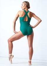 Move Dance Penelope Zip Up Leotard Teal Back-1 [Teal]