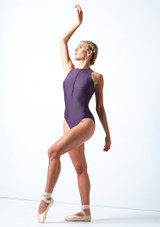 Move Dance Penelope Zip Up Leotard Grape Front-1 [Grape]