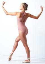 Move Dance Penelope Zip Up Leotard Pink Back-1 [Pink]