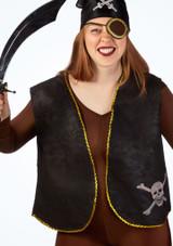 Pirate Waistcoat Black main image. [Black]
