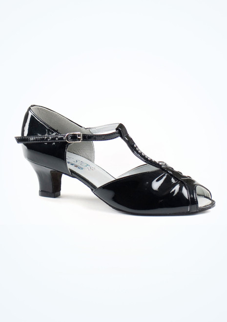 Dancesteps Topaz Black Patent 1.63