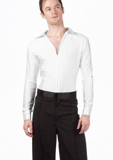 Move Mateo Men's Latin Shirt White [White]