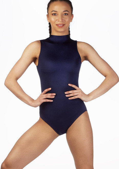 Alegra Shiny Verity Leotard Purple front. [Purple]