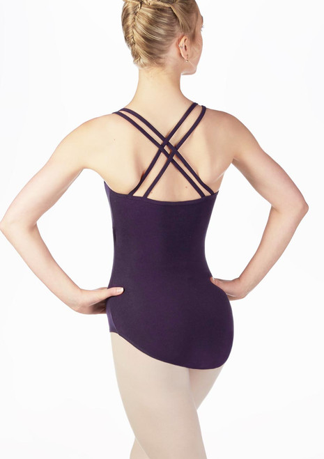 Move Antonia Cross Back Leotard Black back. [Black]