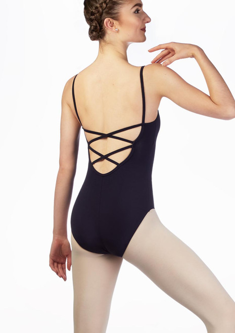 Move Ida Cross Back Leotard White back. [White]