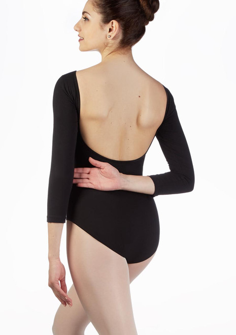 Move Krysta Backless Leotard Black back. [Black]