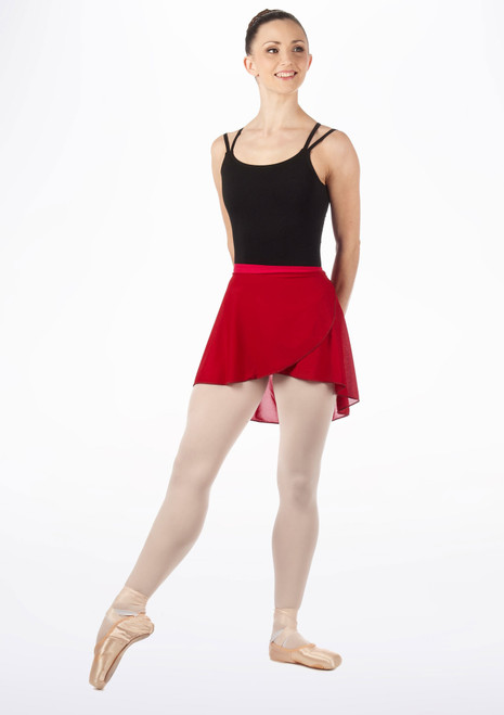 Tappers and Pointers Wrapover Skirt Red. [Red]