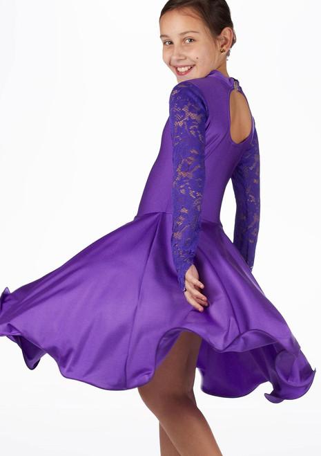 Move Girl's Saskia Ballroom Dress Purple. [Purple]