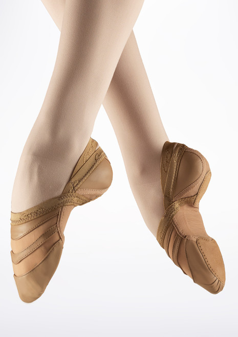 Capezio Freeform Split Sole Shoe Brown main image. [Brown]