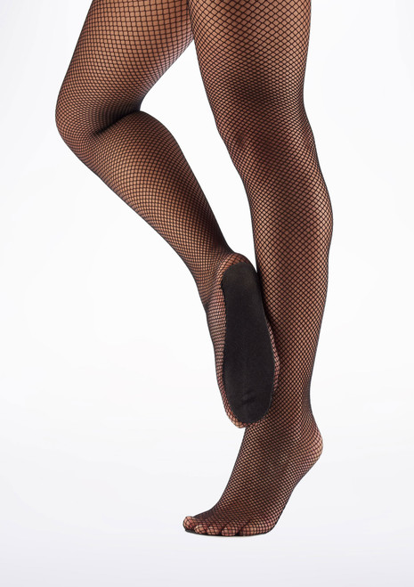 Move Professional Fishnet Dance Tights Black main image. [Black]