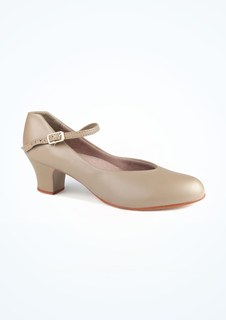 Capezio Junior Footlight Character Shoe in Tan. [Tan]